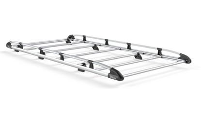 Picture of Rhino Aluminium Rack 3.0m long x 1.6m wide | Nissan Primastar 2002-2014 | Twin Rear Doors | L1 | H1 | AH501