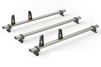 Picture of Van Guard 3x ULTI Bars | Vauxhall Combo 2018-Onwards | Twin Rear Doors | L1, L2 | H1 | VG338-3