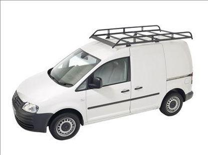 Picture of Rhino Modular Rack 2.4m long x 1.25m wide | Volkswagen Caddy 2010-2015 | Twin Rear Doors | L2 | H1 | R610