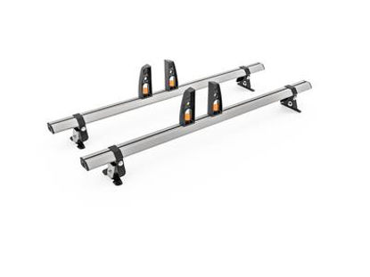 Picture of Hubb VECTA BAR 2 Bar System + 4 load stops | Volkswagen T5 Transporter 2002-2015 | LWB | LOW | HS44-24