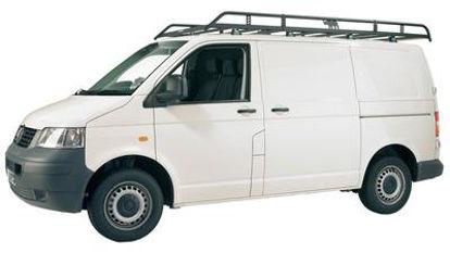 Picture of Rhino Modular Rack 2.8m long x 1.4m wide | Volkswagen T5 Transporter 2002-2015 | Twin Rear Doors | L1 | H1 | R507
