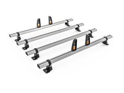 Picture of Hubb VECTA BAR 4 Bar System + 4 load stops | Volkswagen T6 Transporter 2015-Onwards | LWB | LOW | HS44-44