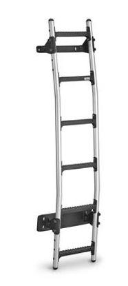 Picture of Rhino New Aluminium Rear Door Ladder (Bespoke fitting kit) | Volkswagen T6 Transporter 2015-Onwards | Twin Rear Doors | L1, L2 | H1 | AL6-LK33