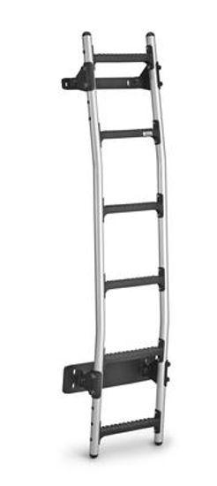 Picture of Rhino New Aluminium Rear Door Ladder (Bespoke fitting kit)   Volkswagen T6 Transporter 2015-Onwards   Twin Rear Doors   L1, L2   H1   AL6-LK33