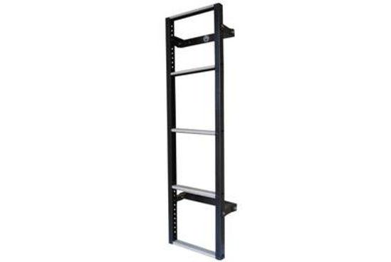 Picture of Van Guard 5 step Rear Door Ladder - 1230mm (L) | Volkswagen T6 Transporter 2015-Onwards | Twin Rear Doors | All Lengths | H1 | VG116-5-T5
