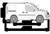 Picture of Rhino 2.2m SafeStow4 (One Ladder)   Fiat Doblo 2000-2010   Twin Rear Doors   L1   H1   RAS16-SK21