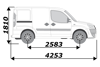Picture of Rhino 2.2m SafeStow4 (Extra Wide Ladder)   Fiat Doblo 2000-2010   Twin Rear Doors   L1   H1   RAS16-SK23
