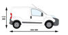 Picture of Rhino 2.2m SafeStow4 (One Ladder) | Fiat Fiorino 2008-Onwards | Twin Rear Doors | L1 | H1 | RAS16-SK21