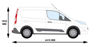 Picture of Rhino 2.2m SafeStow4 (Double CAT Ladder) | Ford Transit Connect 2013-Onwards | Twin Rear Doors | L1 | H1 | RAS16-SK25