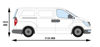 Picture of Rhino 3.1m SafeStow4 (One Ladder)   Hyundai iLoad 2009-Onwards   Twin Rear Doors   L1   H1   RAS18-SK21