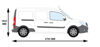 Picture of Rhino 2.2m SafeStow4 (Extra Wide Ladder)   Mercedes Citan 2012-Onwards   Twin Rear Doors   L3   H1   RAS16-SK23