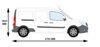Picture of Rhino 2.2m SafeStow4 (Double CAT Ladder)   Mercedes Citan 2012-Onwards   Twin Rear Doors   L3   H1   RAS16-SK25