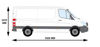 Picture of Rhino Delta Bar Rear Roller System   Mercedes Sprinter 2006-2018   L2   H1   1275-S550P
