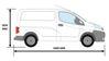 Picture of Van Guard 5 step Rear Door Ladder - 1230mm (L) | Nissan NV200 2009-Onwards | Twin Rear Doors | L1 | H1 | VG116-5