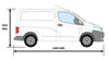 Picture of Rhino 2.2m SafeStow4 (One Ladder) | Nissan NV200 2009-Onwards | Twin Rear Doors | L1 | H1 | RAS16-SK21