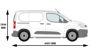 Picture of Rhino KammBar Rear Roller System | Peugeot Partner 2018-Onwards | Twin Rear Doors | L1 | H1 | KR5
