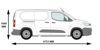 Picture of Rhino KammBar Rear Roller System | Peugeot Partner 2018-Onwards | Twin Rear Doors | L2 | H1 | KR10