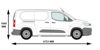 Picture of Rhino 3.1m SafeStow4 (Extra Wide Ladder) | Peugeot Partner 2018-Onwards | Twin Rear Doors | L2 | H1 | RAS18-SK23