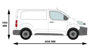 Picture of Rhino 2.2m SafeStow4 (Extra Wide Ladder) | Peugeot Expert 2016-Onwards | Twin Rear Doors | L1 | H1 | RAS16-SK23