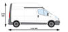 Picture of Rhino 3.1m Safestow4 (Double CAT Ladder) | Renault Trafic 2001-2014 | Twin Rear Doors | L2 | H2 | RAS18-SK25