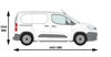 Picture of Rhino 2.2m SafeStow4 (One Ladder)   Vauxhall Combo 2018-Onwards   Twin Rear Doors   L1   H1   RAS16-SK21