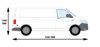 Picture of Rhino Delta Bar Rear Roller System   Volkswagen T5 Transporter 2002-2015   Tailgate   L2   H1   1145-S225P