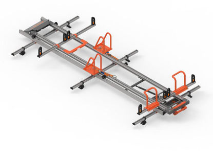 Picture of Hubb LOAD LITE TWIN version ladder loading system | Citroen Berlingo 2008-2018 | Twin Rear Doors | All Lengths | H1 | HSLLT-25
