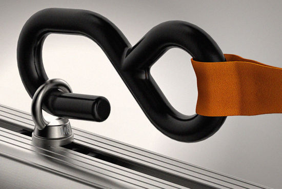 Picture of Van Guard 1x pair of 800kg Ratchet Straps & 2x pairs of S/Steel Eye Bolts | Roof Bars Accessories | VGRS-4K