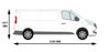 Picture of Rhino Delta Bar Rear Roller System   Vauxhall Vivaro 2014-2019   Tailgate   L2   H1   1145-S225P