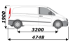 Picture of Van Guard Driver / Offside - Double Unit - 1009mm (H) x 1716mm (W) | Mercedes Vito 2003-2014 | L1 | H1 | TVR-DBL-002