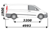 Picture of Van Guard Driver / Offside - Double Unit - 1009mm (H) x 2216mm (W)   Mercedes Vito 2003-2014   L2   H1   TVR-DBL-005